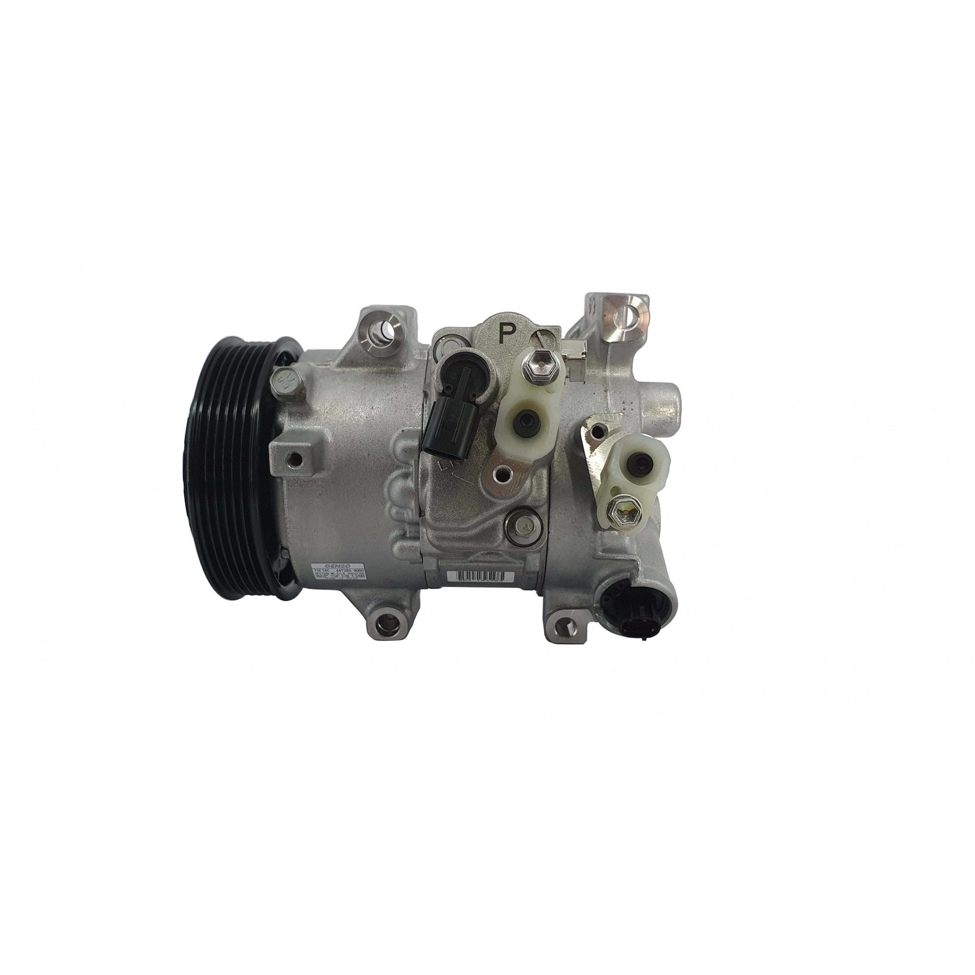 Compressor Corolla 1.8 2011 até 2013 - DENSO Original com sensor e válvula