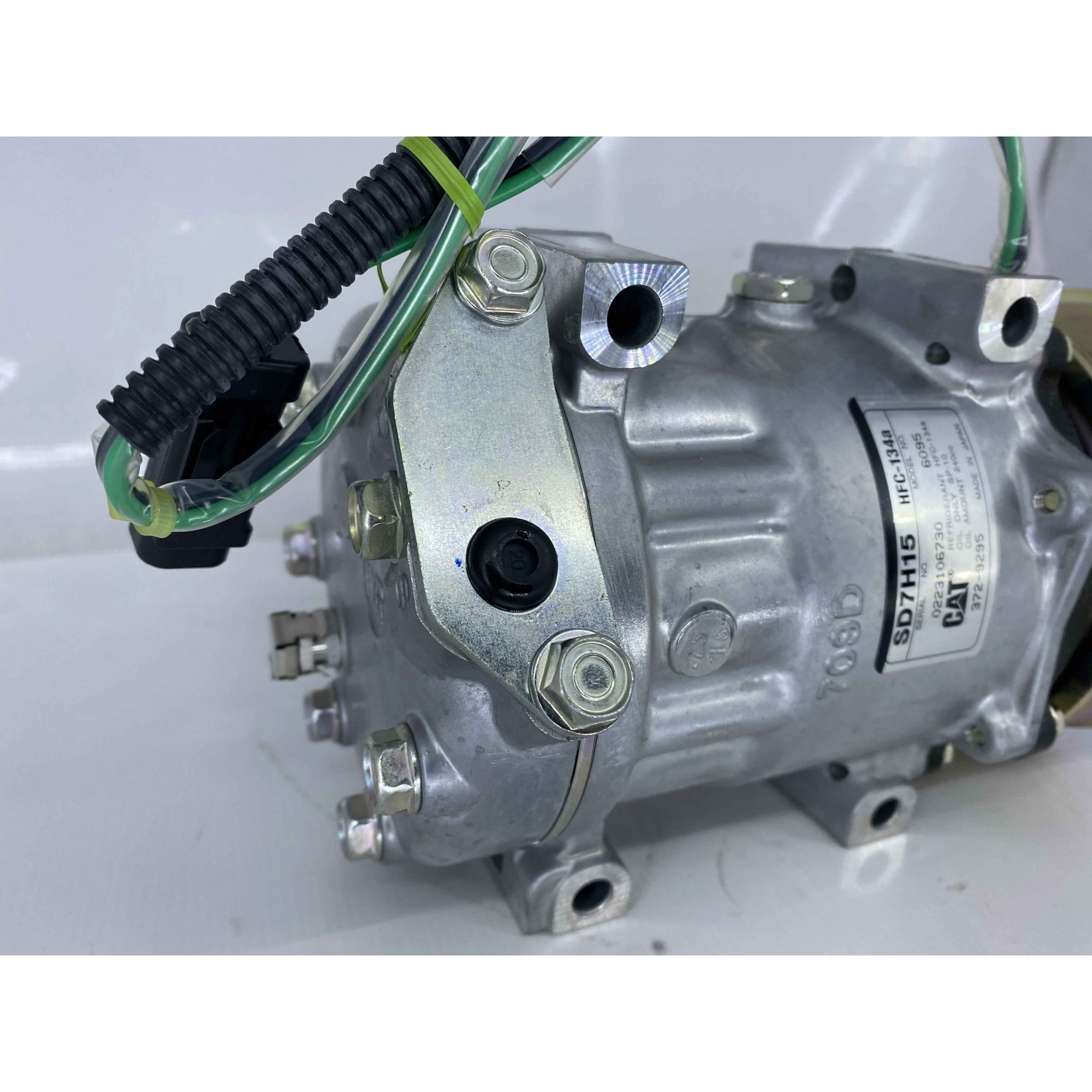Compressor escavadeira Caterpilar 2012 2013 2014 2015 12pk original sanden