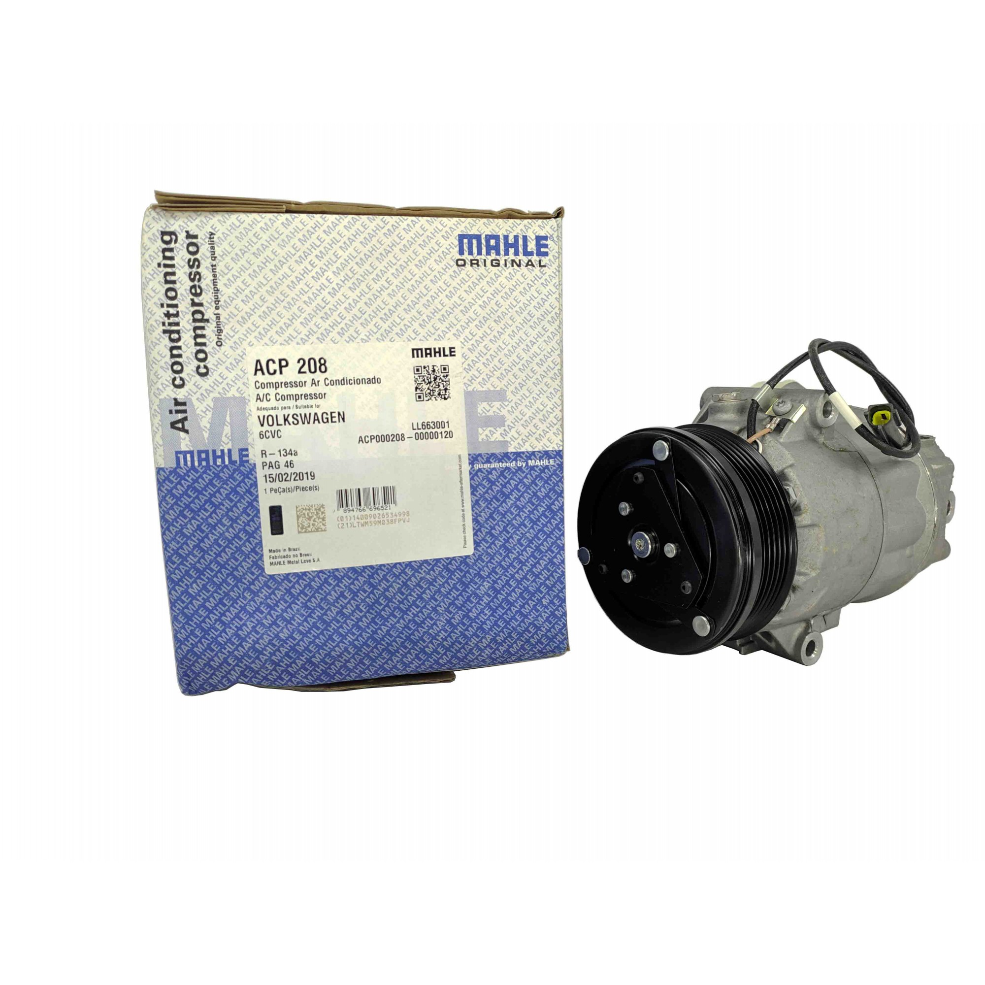 Compressor Gol / Parati / Saveiro G3 / G4  1.6 e 1.8 - Original MAHLE