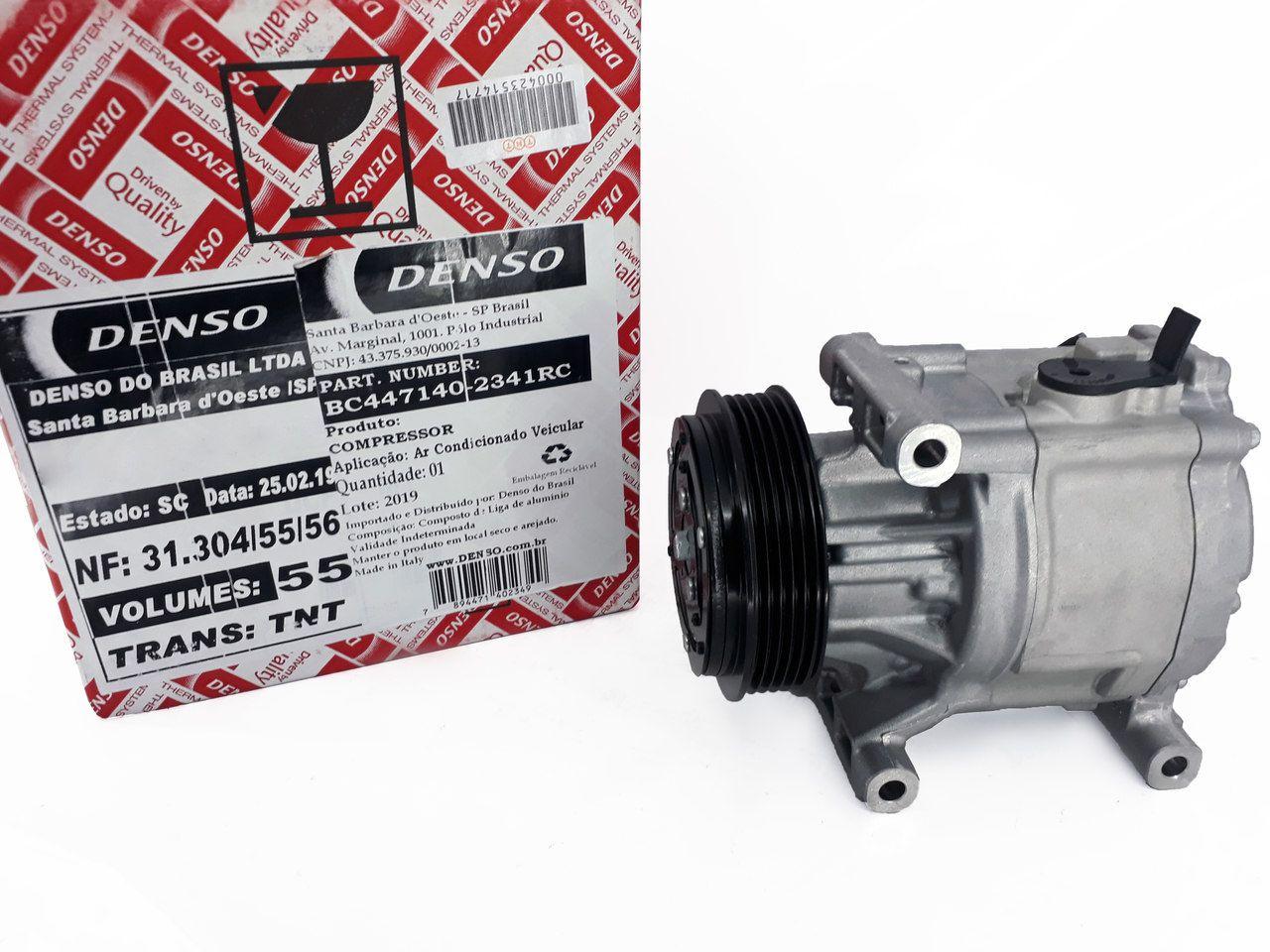 Compressor Palio - Uno -  Punto -  Scroll Pequeno - Original DENSO