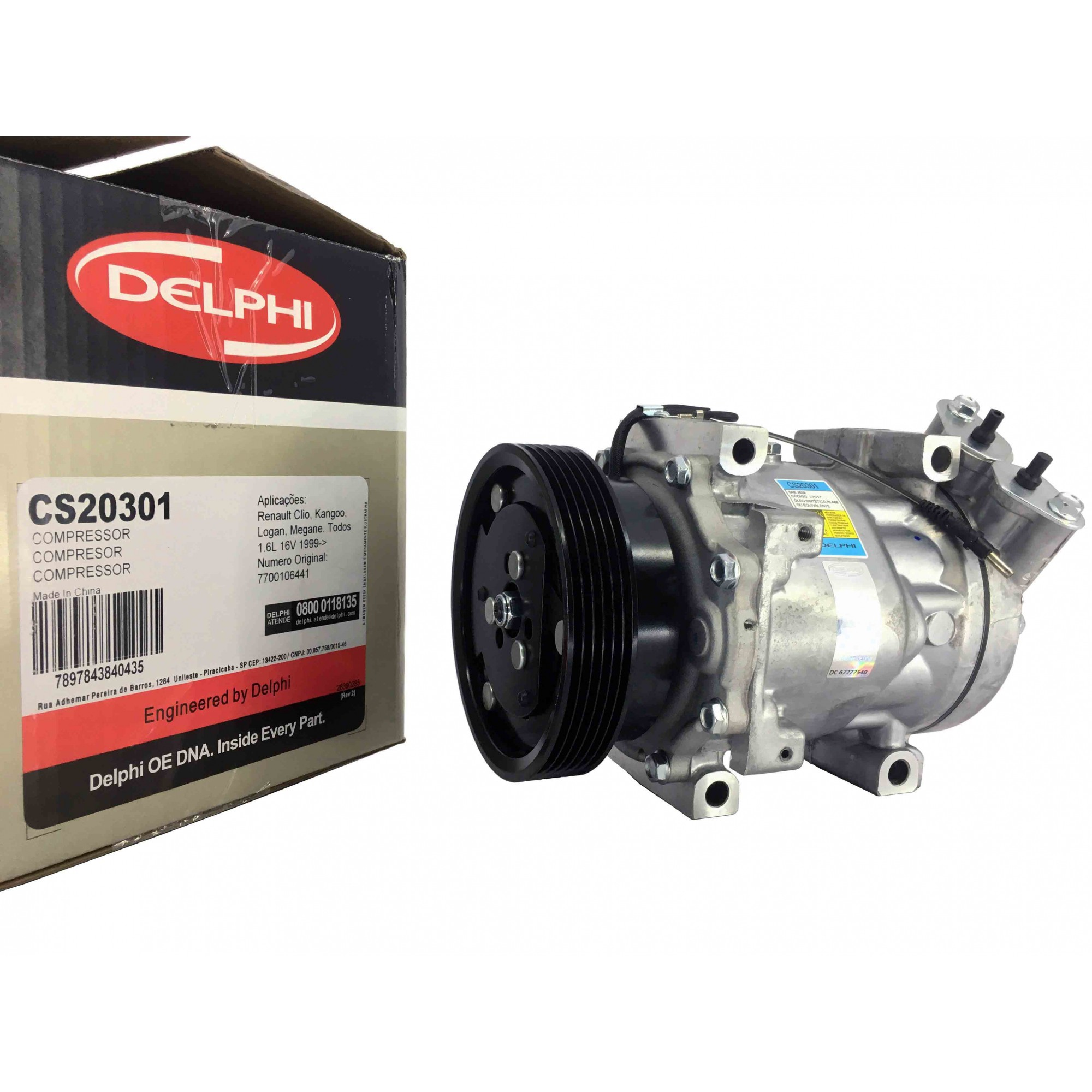 Compressor Sandero / Clio / Logan / Duster 1.6 - Original DELPHI