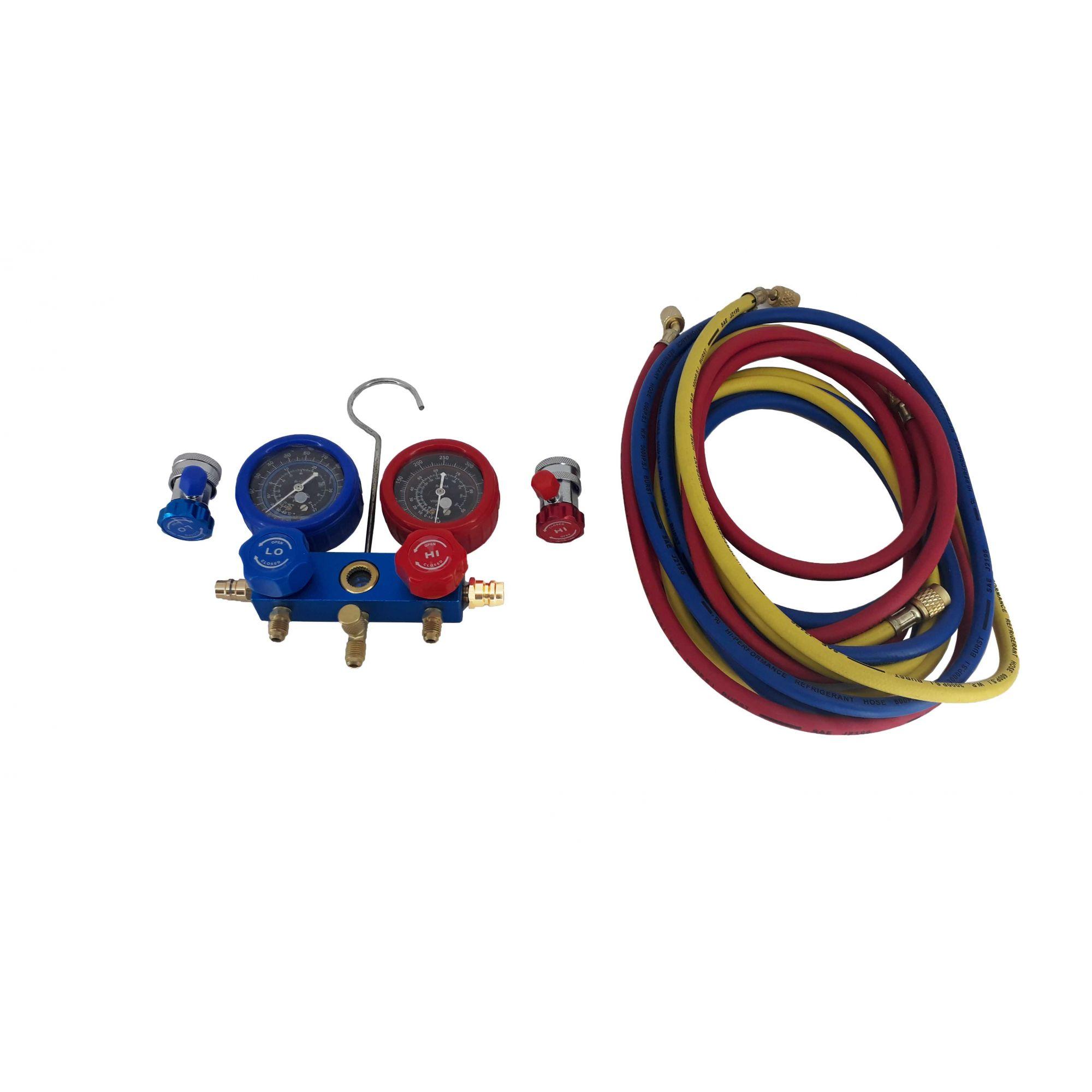 Kit Manômetro para ar condicionado automotivo