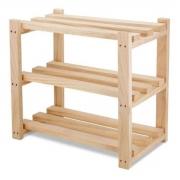 Sapateira de madeira para apartamento Estante 50x50x30