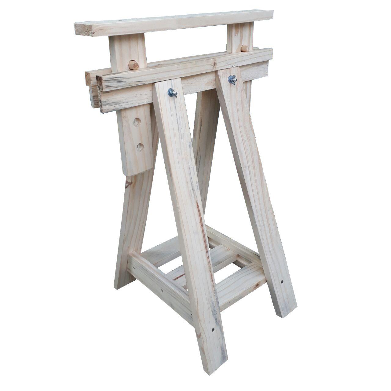 Cavalete de Madeira para mesa Regulável M50 com ajuste de altura