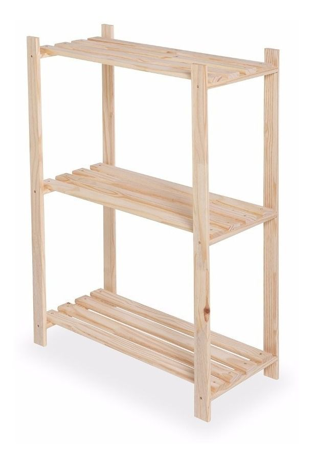Estante Sapateira de madeira para apartamento 62x50x30