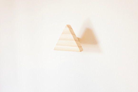 Pendurador Cabideiro De Madeira Gancho De Parede Triangulo ( 4 Peças )