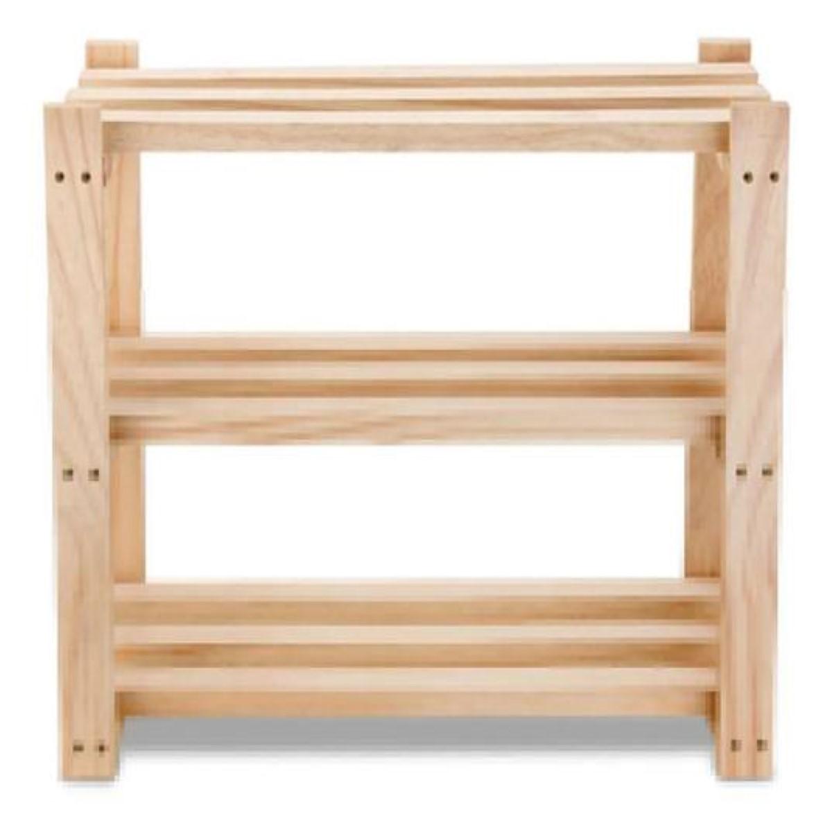 Sapateira de madeira para apartamento Estante 50x60x30