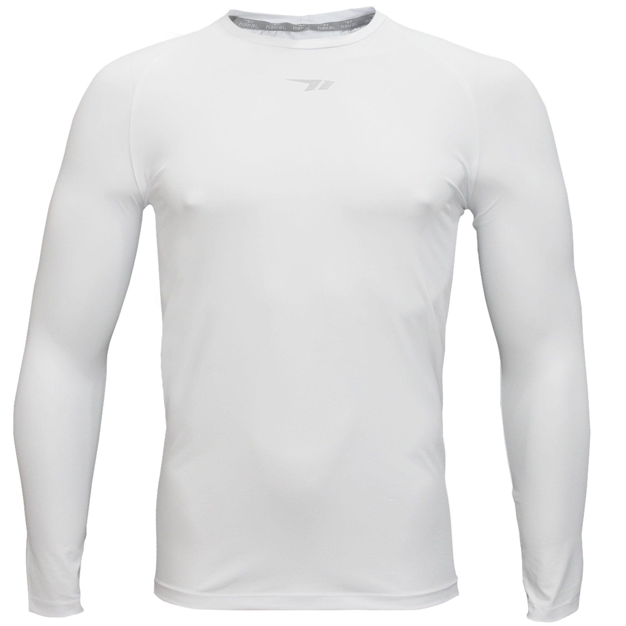 Camisa Nakal Compressão ML Poliamida Branca
