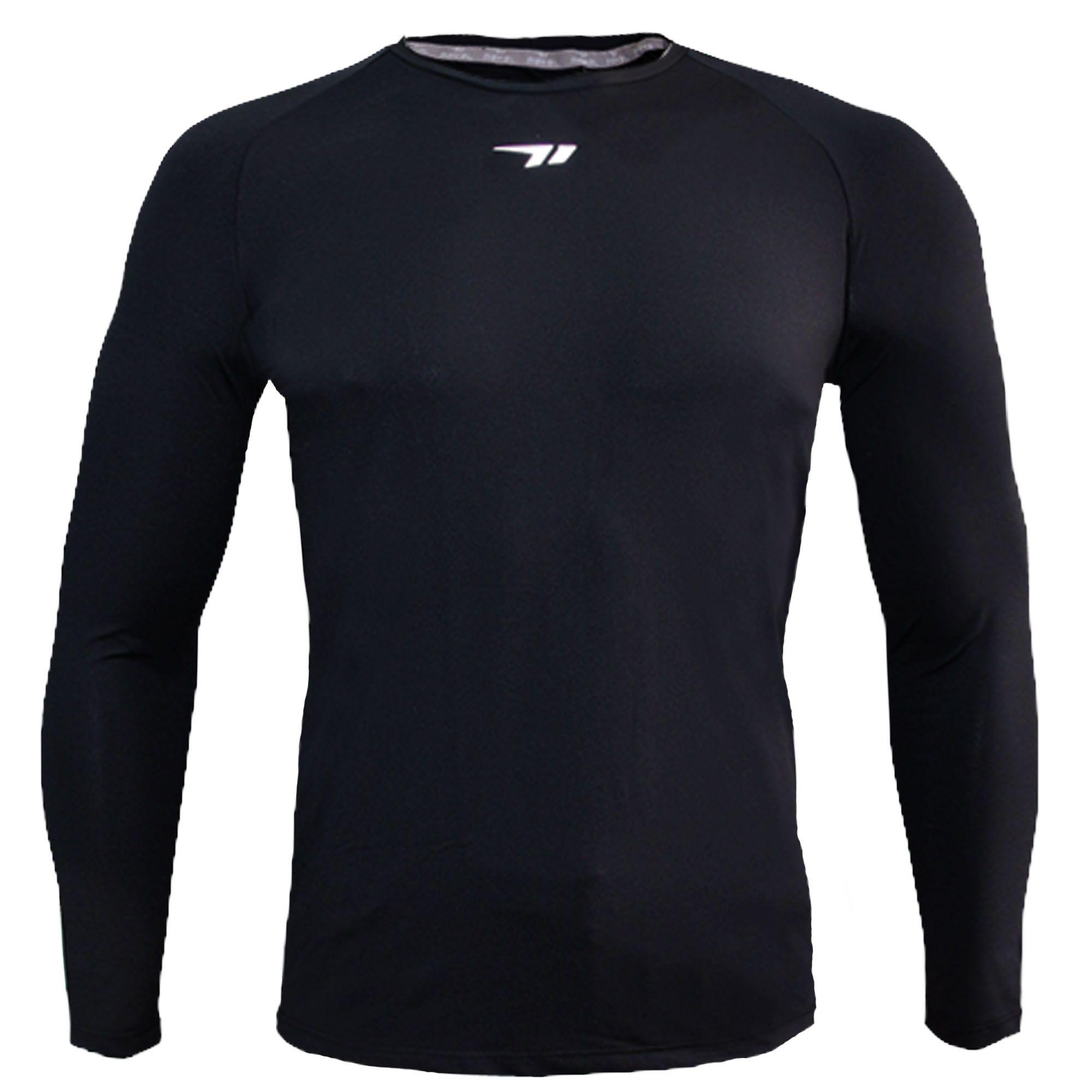Camisa Nakal Compressão ML Poliamida Preta