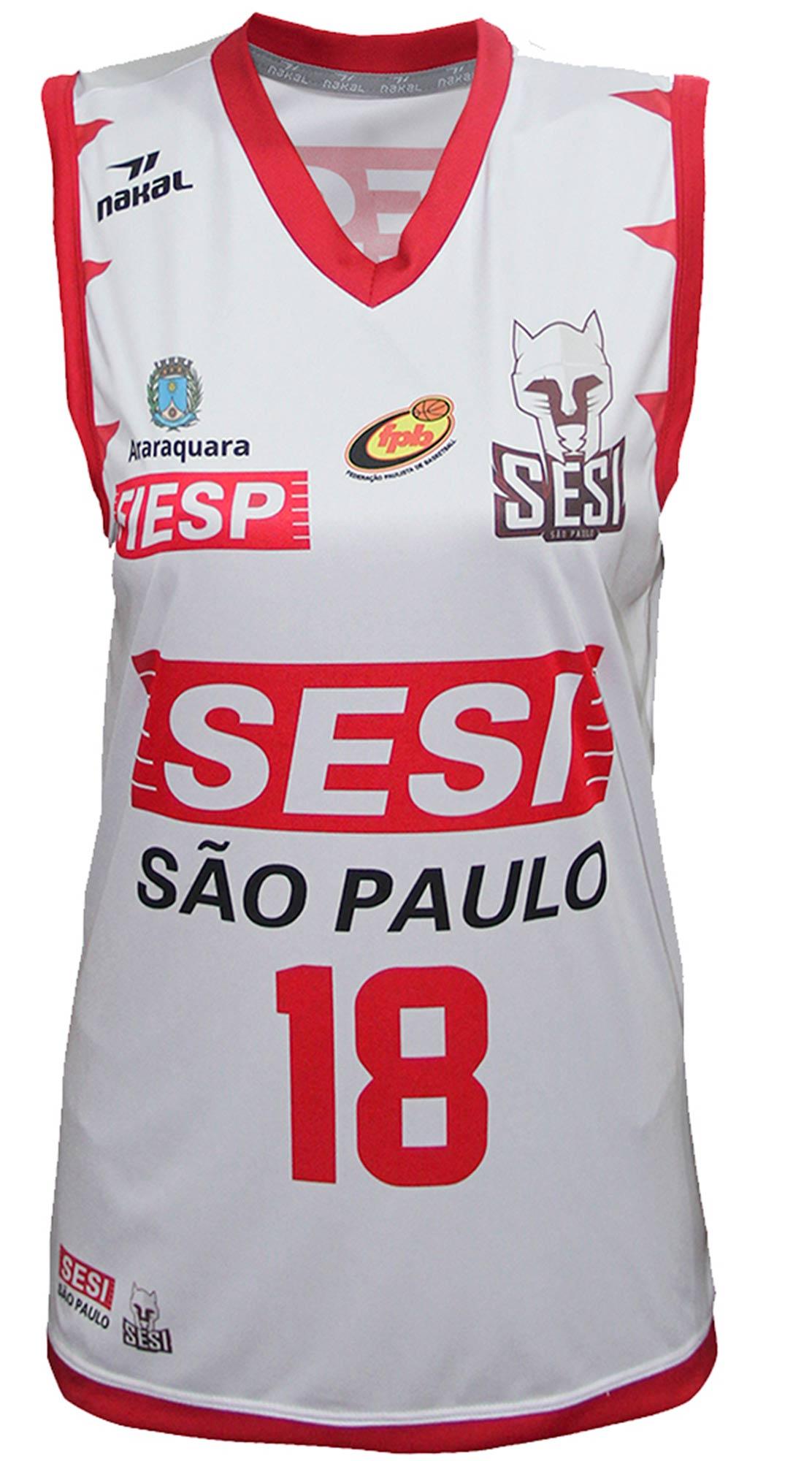 Camisa Oficial SESI Araraquara Basquete Feminino Branca