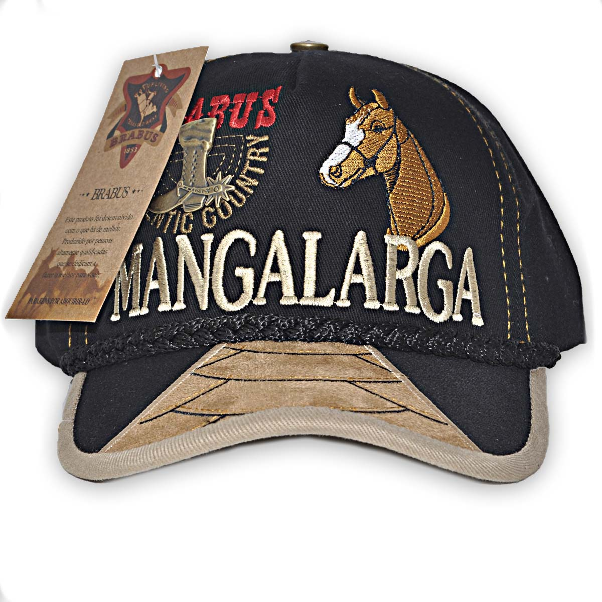 Boné Country Brabus - Mangalarga 2 - Preto