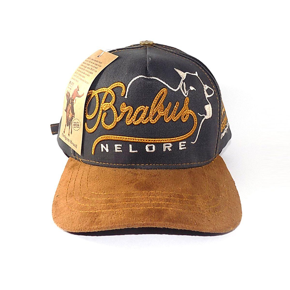 Boné Country Brabus - Nelore 4 - Cinza