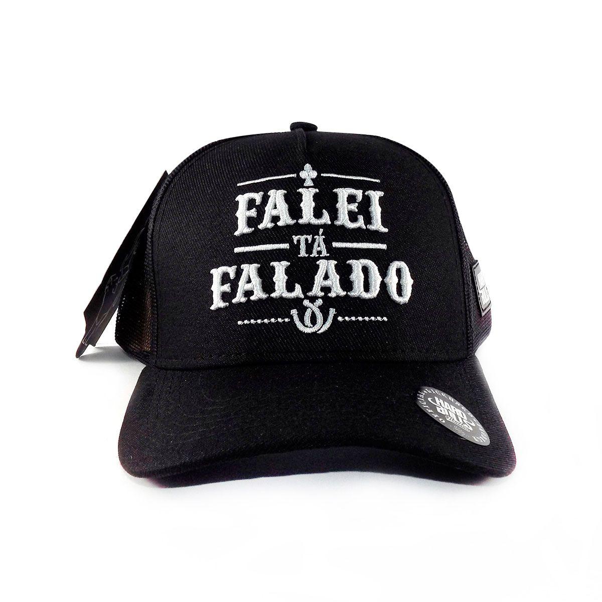 Boné Country Falei ta Falado - Preto