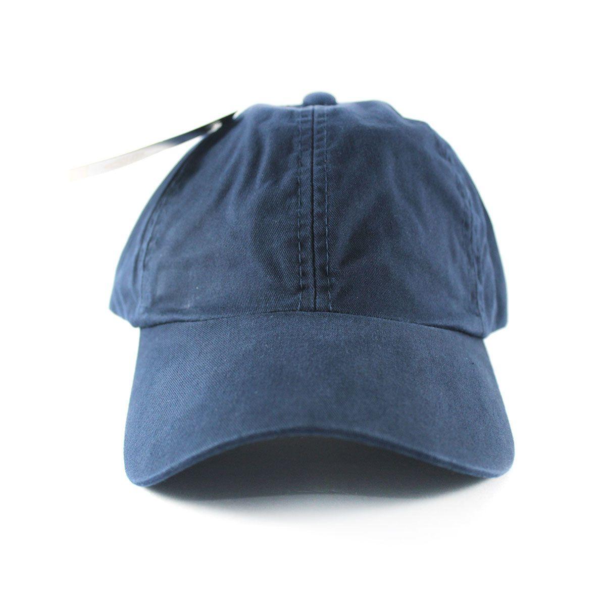 Boné Liso Algodão - Azul Marinho
