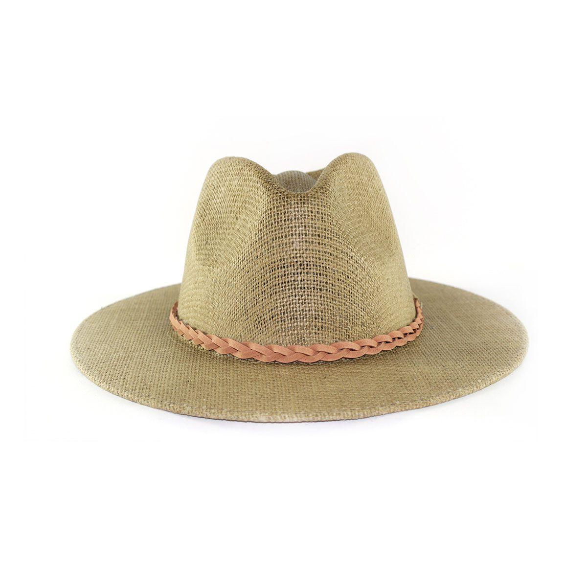 Chapéu Dallas Australiano de Juta Fita Trançada