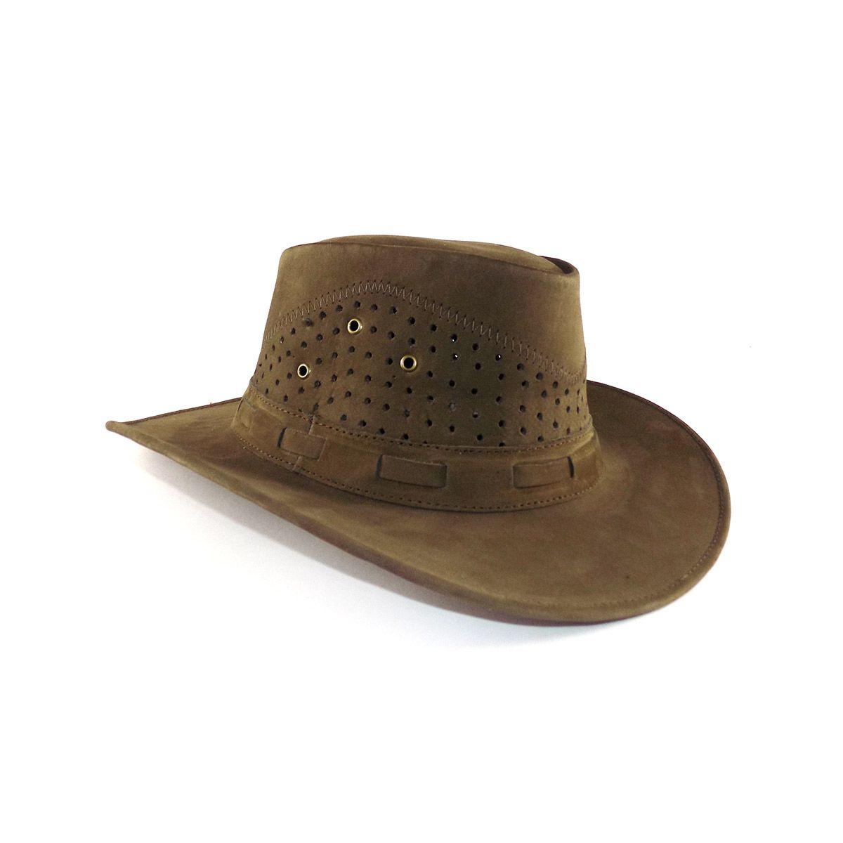 Chapéu de Couro Australiano - Oliva