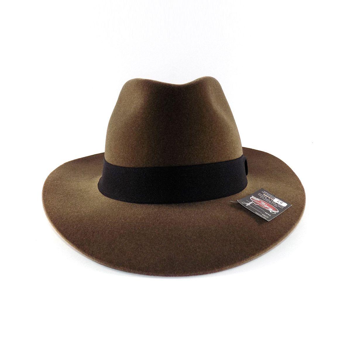 Chapéu Fedora Indiana Jones Aveludado - Pino