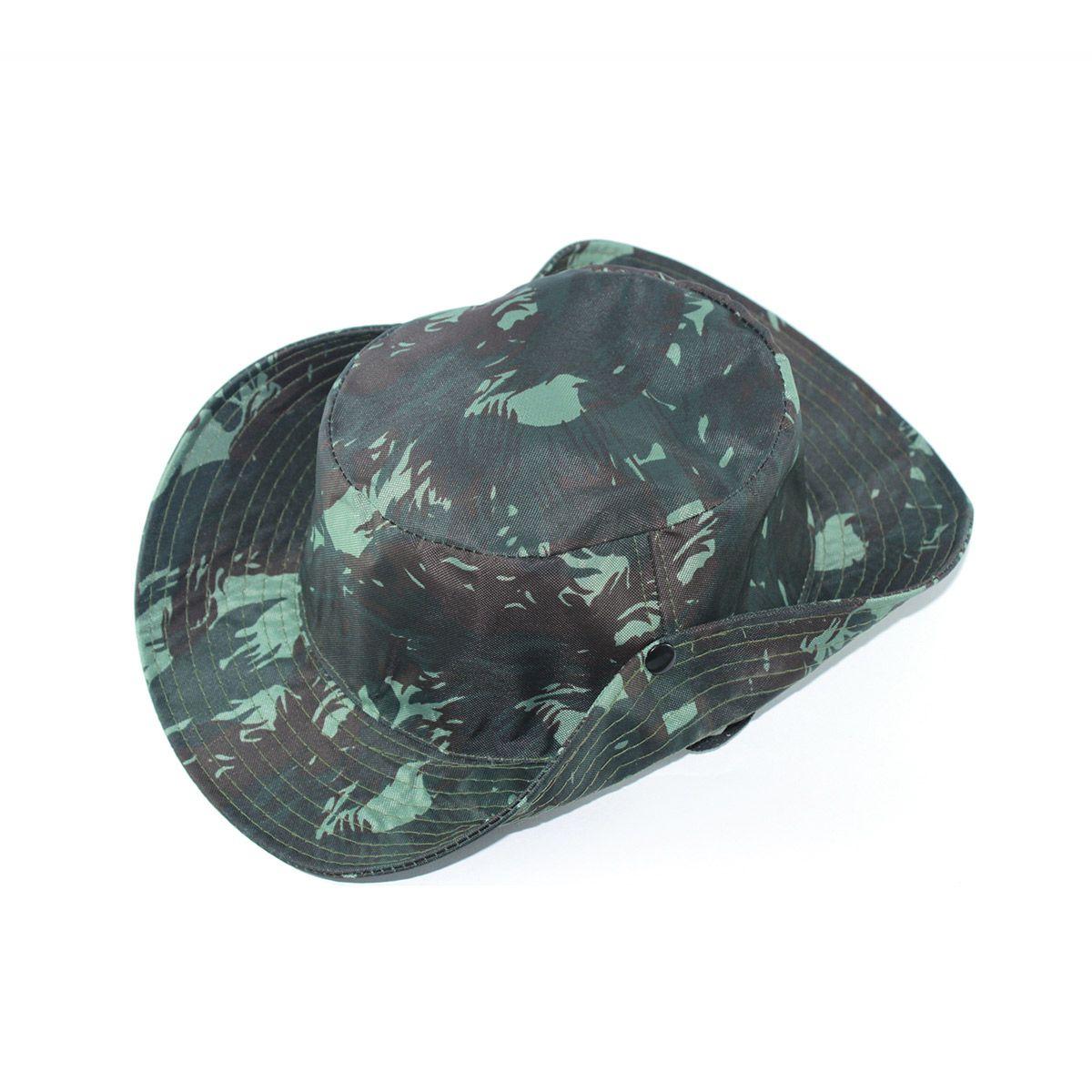 Chapéu Pescador Safari - Camuflado Exército