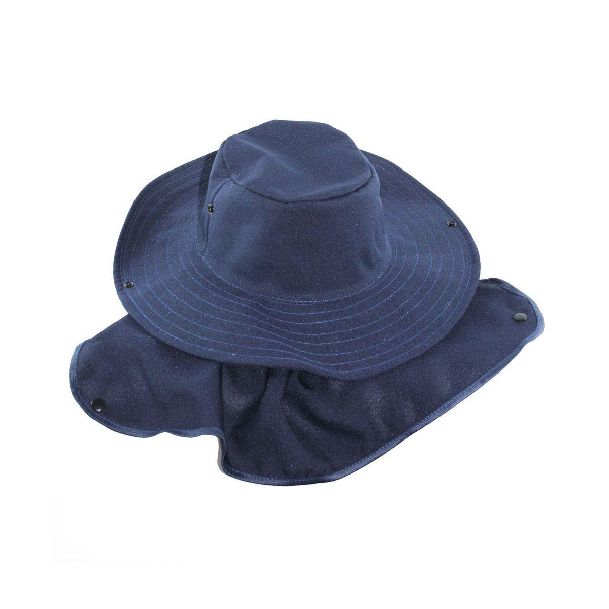 Chapéu Pescador Safari com proteção de pescoço - Azul Marinho