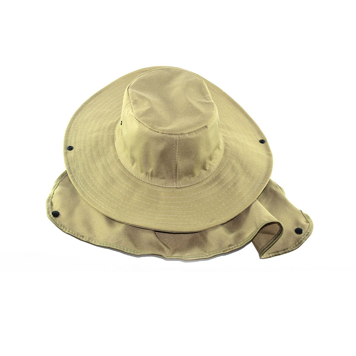 Chapéu Pescador Safari com proteção de pescoço - Bege