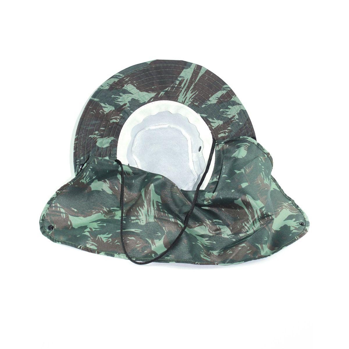 Chapéu Pescador Safari com proteção de pescoço - Camuflado