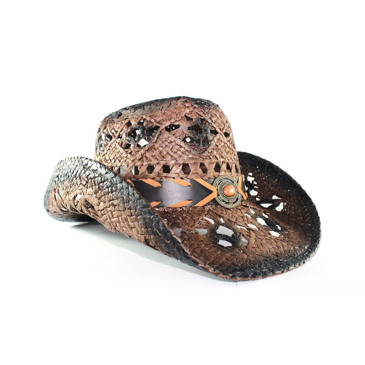 Chapéu Yankee Country Furadinho - Marrom