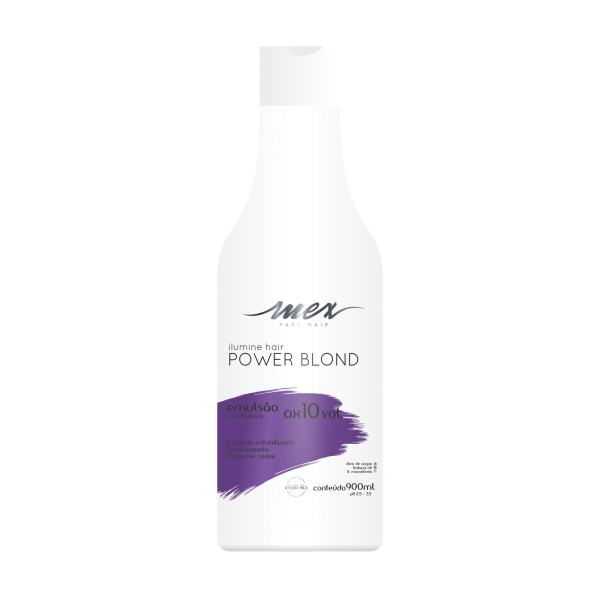 Emulsão Reveladora OX 10 Vol. Ilumine Hair Power Blond Mex Pure Hair 900ml