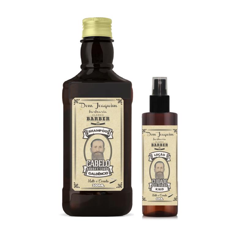 Kit Shampoo 3 em 1 com Loção para Barba