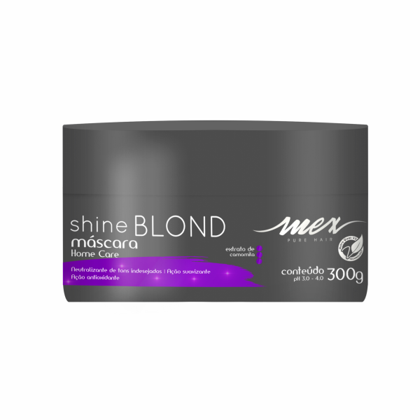 Máscara Blond Shine Mex Pure Hair 300g