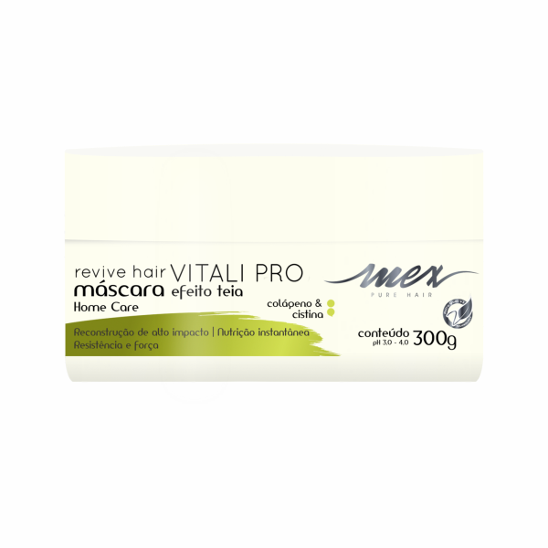 Máscara Efeito Teia Revive Hair Vitali Pro Mex Pure Hair 300g
