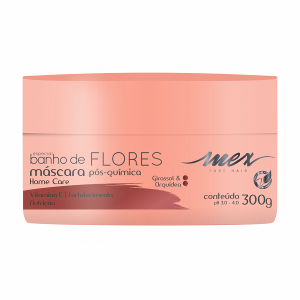 Máscara Pós Química Banho de Flores Mex Pure Hair 300g