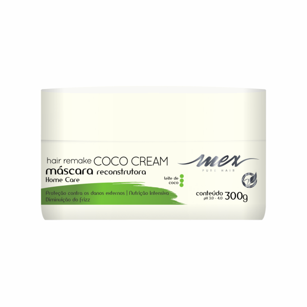 Máscara Reconstrutora Hair Remake Coco Cream Mex Pure Hair 300g