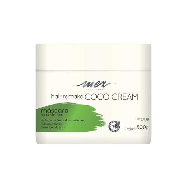 Máscara Reconstrutora Hair Remake Coco Cream Mex Pure Hair 500g