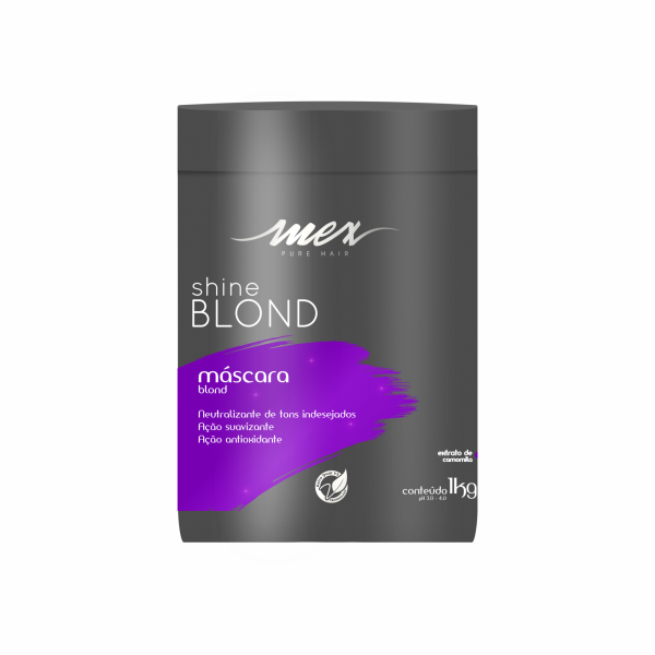 Máscara Shine Blond Mex Pure Hair 1kg