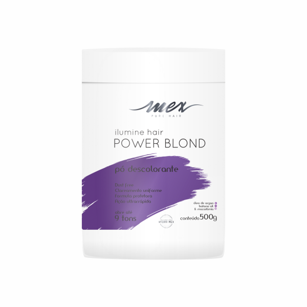 Pó Descolorante Ilumine Hair Power Blond Mex Pure Hair 500g