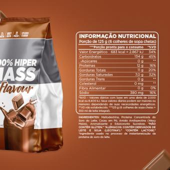 100% HIPER MASS FLAVOUR   CHOCOLATE
