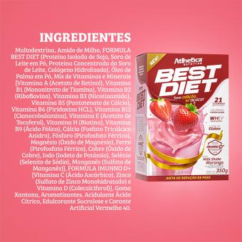 BEST DIET | MILKSHAKE MORANGO (350G)