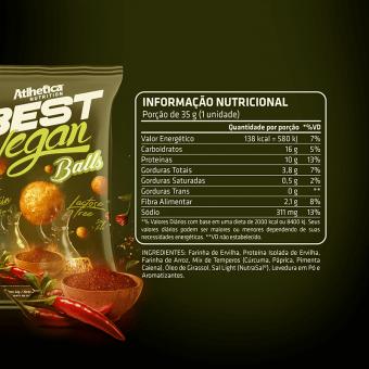 BEST VEGAN BALLS | PIMENTA E CÚRCUMA (CAIXA COM 12 UNIDADES)
