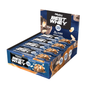 BEST WHEY BAR DISPLAY 12 UNIDADES PEANUT CARAMEL