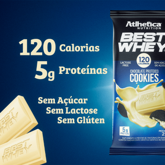 BEST WHEY CHOCOLATE PROTEICO LACTOSE FREE | COOKIES (DISPLAY 12 UNIDADES)