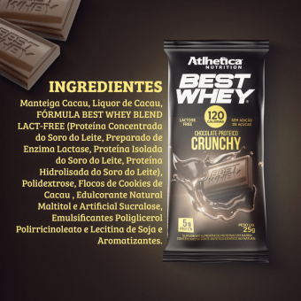 BEST WHEY CHOCOLATE PROTEICO LACTOSE FREE | CRUNCHY (DISPLAY 12 UNIDADES)