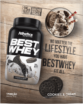 BEST WHEY | COOKIES E CREAM (SACHÊ DOSE ÚNICA)