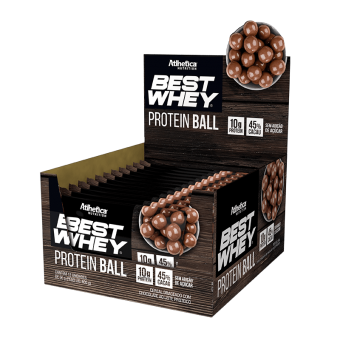 BEST WHEY PROTEIN BALL | CHOCOLATE AO LEITE (DISPLAY 12 UNIDADES)
