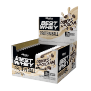 BEST WHEY PROTEIN BALL DISPLAY COM 12 SACHÊS COOKIES & CREAM