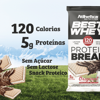 BEST WHEY PROTEIN BREAK | ORIGINAL COM COBERTURA CHOCOLATE AO LEITE (DISPLAY 12 UNIDADES)