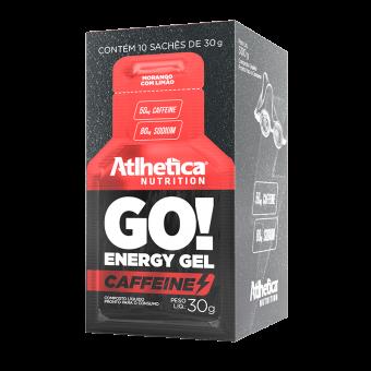 GO! ENERGY GEL CAFFEINE | MORANGO COM LIMÃO (DISPLAY 10 SACHÊS)