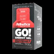 GO! ENERGY GEL CAFFEINE DISPLAY COM 10 SACHÊS MORANGO COM LIMÃO