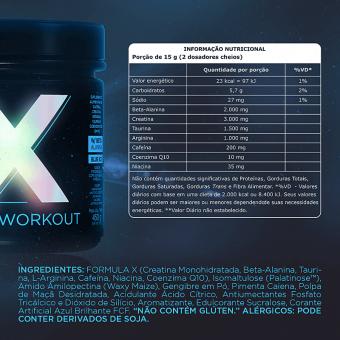 X HD PREWORKOUT |BLUE ICE (450G)