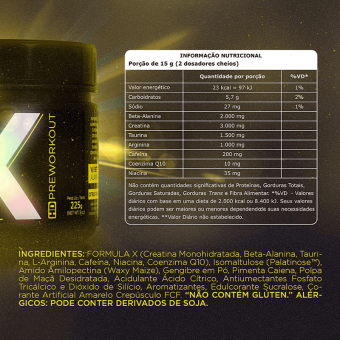 X HD PREWORKOUT  CITRUS PUNCH (225G)