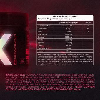 X HD PREWORKOUT |WILD BERRIES (225G)